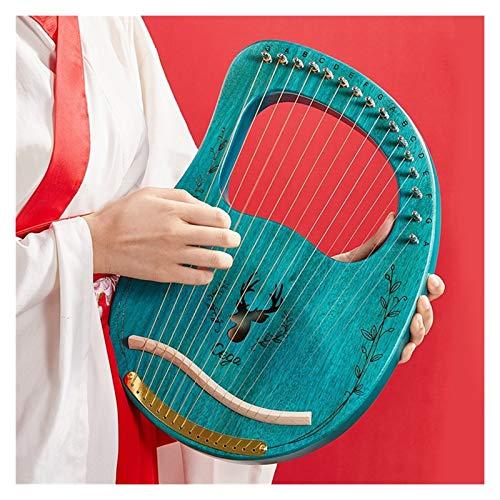 Harfe Professionelle Harfe Instrument for Anfänger kleine Nische Lyre Musikinstrument weiblich tragbares Selbst Antike lernen (Farbe : 002)