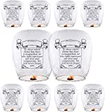 Chinese Lanterns (10-Pack) Sky Lanterns ECO Friendly Paper Lanterns 100% Biodegradable for Weddings, Birthdays, Memorials and Much More
