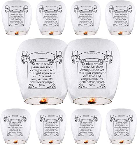 Chinese Lanterns (10-Pack) Sky Lanterns ECO Friendly Paper Lanterns 100% Biodegradable for Weddings, Birthdays, Memorials and Much More (10-Pack)