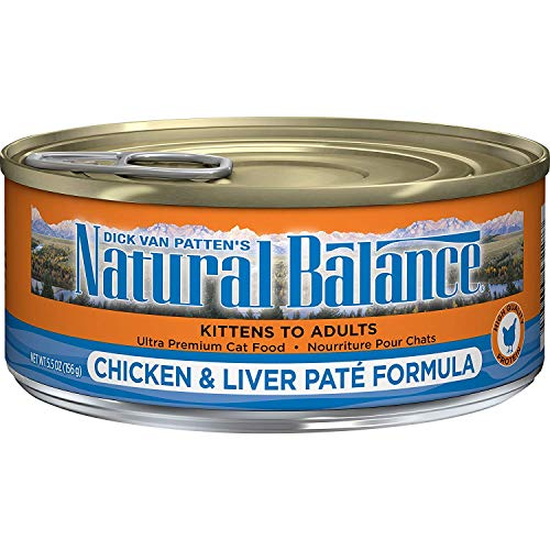 Natural Balance Ultra Premium Wet Cat Food, Chicken & Liver Paté Formula, 5.5 Ounce Can (Pack of 24)