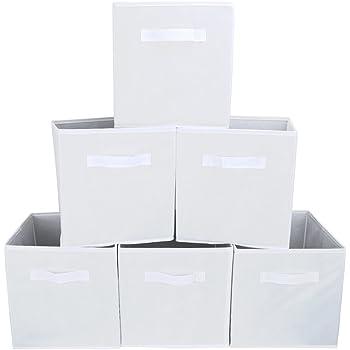 Zeller 14131 - Caja de almacenaje de tela, plegable, 28 x 28 x 28 cm, color beige: Amazon.es: Hogar