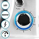Duronic SM104 Elektrisch Küchenmaschine | Knetmaschine 1000W | 4 L Rührschüssel mit Spritzschutz | 6 Geschwindigkeiten und Pulsfunktion - 6