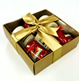 Yankee Candle luxury Christmas 6 Sampler Pack - Gift Wrapped- in Gold Box, Gold Tissue & Gold Ribbon & includes WHITE CHRISTMAS