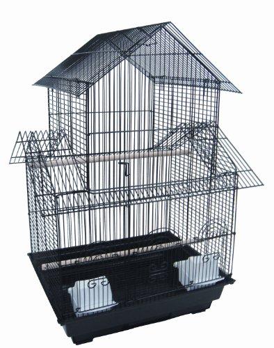 YML 45,7 cm par 35,6 cm Petite Pagode de Cage à Oiseaux, Noir