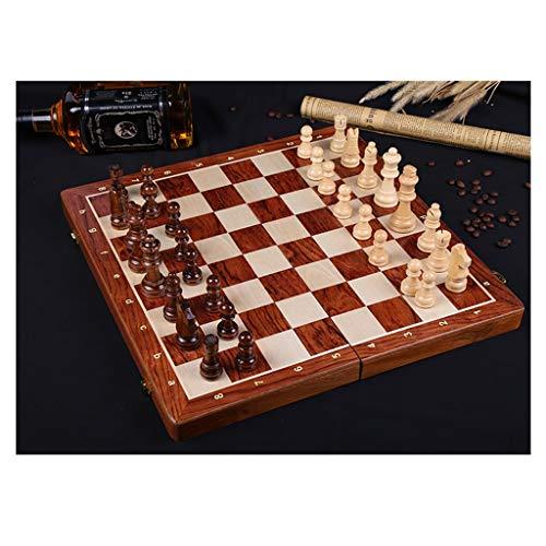 MISS YOU Schach Holz Schach große Kinder Erwachsener Anzug Falten Schachbrett Puzzle Tischspiel Schachspiel