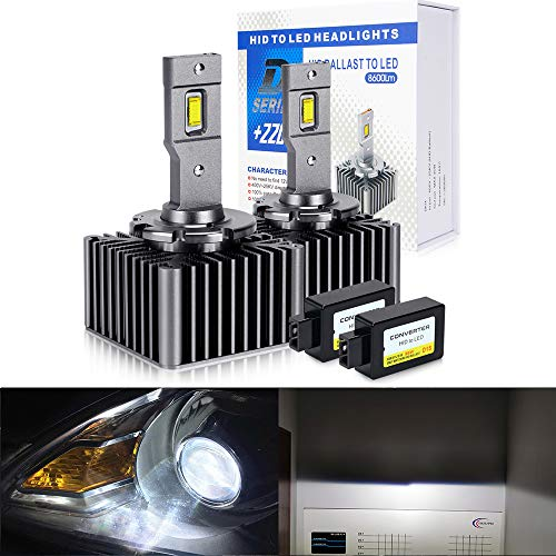 OPP ULITE D1S Led Headlight Bulbs Conversion Kit, 100% Decoding, 8600LM 6000K 35W Led Headlights Replace OEM Xenon Bulbs (M10 D1)