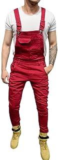 Salopette da Lavoro Uomo Militare Camuffamento VJGOAL Salopette di Jeans Uomo Relaxed Fit Jeans Denim Slim Tasche Overall ...