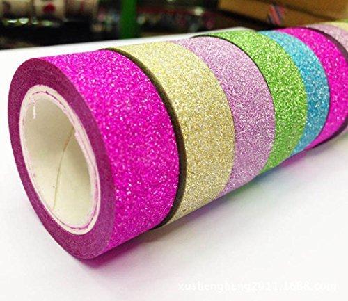 5 pcs DIY Bling Bling Autocollant Papier de masquage ruban adhésif décoratif scrapbooking