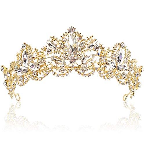 Tiara corona de cristal Tiaras para novia, coronas de boda, diamantes de...