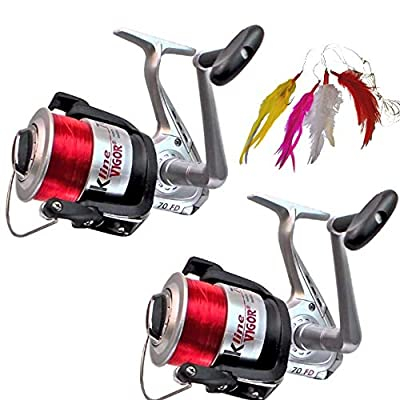 2 x Sea Fishing Reels and FREE Mackerel Feathers from Angling Pursuits