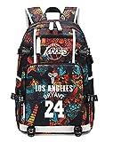AUGYUESS Basketball Player Star Backpack School Bag Daypack Bookbag Shoulder Bag Laptop Bag