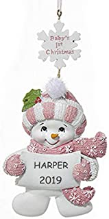 Best baby's first christmas snowman ornament Reviews