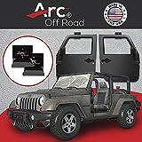 The Original, Arc Off Road, Window Channel, Door Hanger Bracket, 2 Door (2 hangers), Fits Jeep Wrangler CJ, YJ, TJ,...