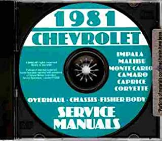1981 CHEVROLET CAMARO FACTORY REPAIR SHOP & SERVICE MANUAL INCLUDES: Standard Camaro, Berlinetta, Coupe, Z28, Convertible, CHEVY 81