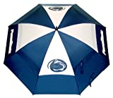 Team Golf NCAA Penn State Nittany Lions 62' Golf Umbrella with Protective Sheath, Double Canopy Wind Protection Design, Auto Open Button