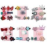 32 stücke Baby Mädchen Haarspangen, Niedlichen Cartoon Handgemachte Blume Bowknot Crown Haarnadeln für Mädchen Kinder Haarschmuck