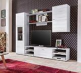 Cotta Collection Germanvox - Mueble de pared para salón Arion blanco fresno L.225 P.36 H.185 cm