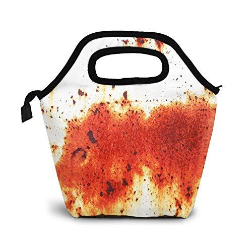 Bolsa Térmica Comida Bolsas De Almuerzo para Mujeres Hombres Niñas Niños Bolsa Isotérmica De Almuerzo Placa Metal Hierro Óxido
