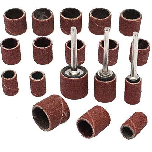 SANKUAI LT-Discs, 132PC-Trommel-Schleifkit - Passt Dremel - beinhaltet Gummi-Trommel-Mandrel - 1/2, 3/8 Zoll