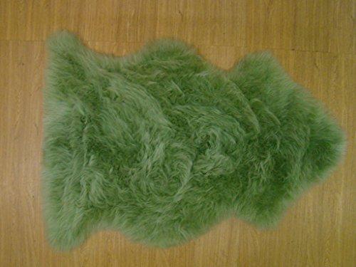 Pixieland 100 % echtes Schaffell-Teppich, Jade, Einzelbett