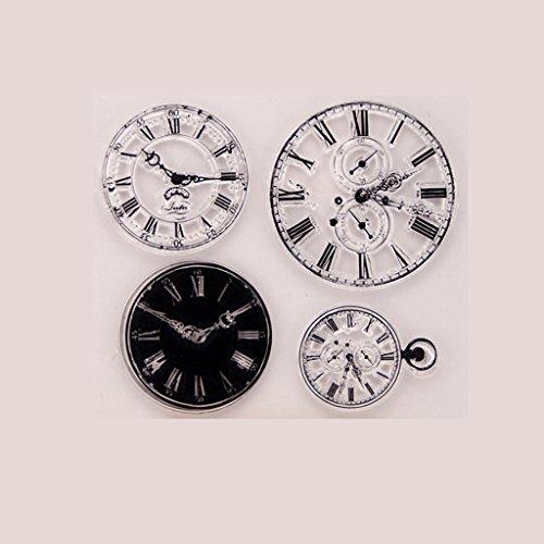 Fogun Uhr transparent klar Silikon Stempel für DIY Scrapbooking Fotoalbum Dekor