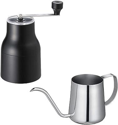 貝印 KAI プレミアムコーヒードリップセット コーヒーミル&コーヒードリッパー + コーヒードリップポット(390ml) Kai House Select RC-5017
