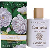 L'Erbolario Camelia Shower Gel/Oat and Flax Provide Natural Moisturization, Floral, 10.1 Oz