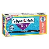 Paper Mate Flair Felt Tip Pens, Medium Point (0.7mm), Black, 12...