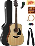 Takamine GD30 Dreadnought Acoustic Guitar - Natural Bundle with Hard Case,...