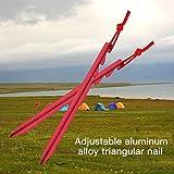 Forfar 1 Stück 18 CM Zelt Nagel Aluminiumlegierungs-drei Rand-Zelt-Zusätze