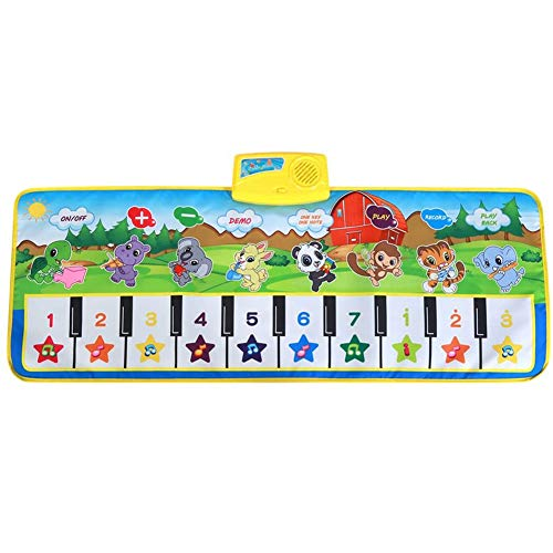 Piano Mat Cartoon Diverse Animal Music Mat Keyboard Mat Educatief speelgoed cadeau voor Kinderen Baby,Burst