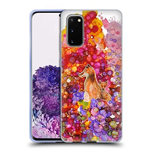 Head Case Designs Licenciado Oficialmente Sylvie Demers Madre Zorro Naturaleza Carcasa de Gel de Silicona Compatible con Samsung Galaxy S20 / S20 5G