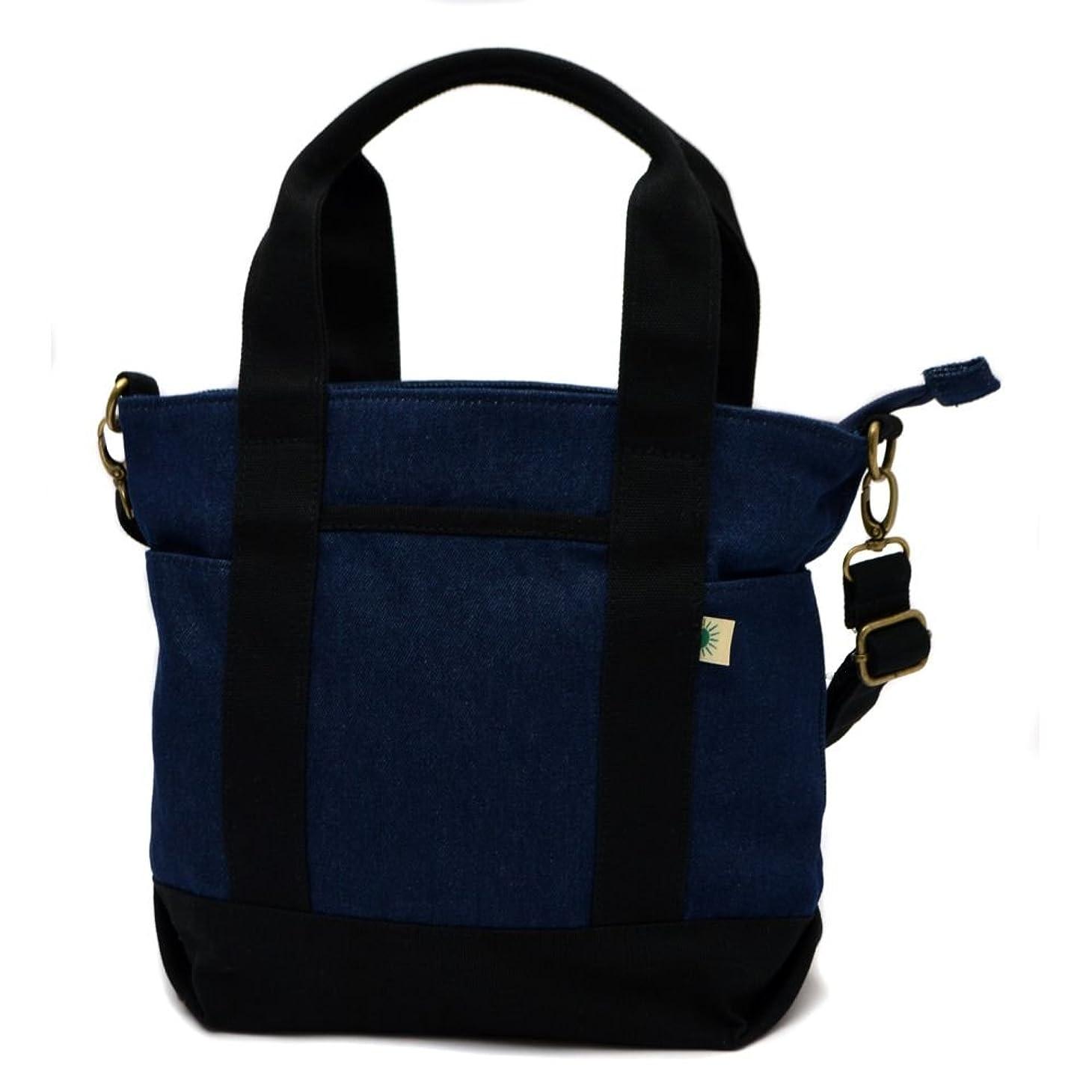 ねじれ数値放出(Uyunii) キャンバストートバッグ ミニサイズ ファスナー付き 2way ワンサイズ