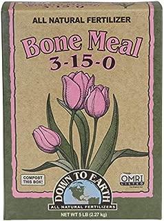 Down to Earth 723667 Organic Bone Meal 3-15-0, 5 lb Fertilizer,