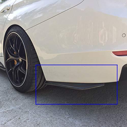 Rear Bumper Diffuser Universal Car Side Fender Skirt Lip Splitter Canard Protector 1 Pair Carbon Fiber/Black (Carbon Fiber Color)