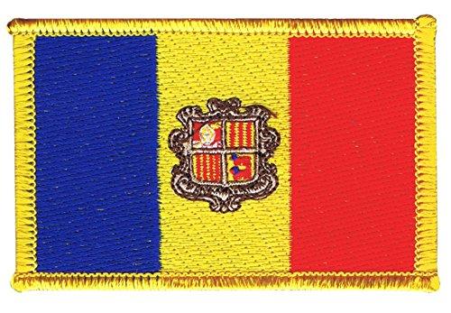 Flaggenfritze Flaggen Aufnäher Andorra Fahne Patch + gratis Aufkleber