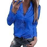 Blusa Mujer Camisa Otoño Estrella De Botón De Cinco Mode De Marca Puntas Taladro En Caliente Tops Top Manga Larga 3 4 Mangas O Cuello Sudadera Manga Larga Camisa Suelta Túnica