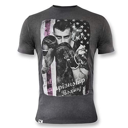 ElPlayer Cassius - Camiseta para Hombre, Hombre, LFM3730047, Gris Melange Oscuro, XX-Large