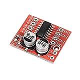 QPLKL Módulo electrónico 2~10V Operación Doble Puente H Conductor del Motor del Módulo del Sobrecalentamiento Protección De Velocidad For A-r-d-u-i-n-o