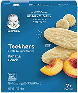Gerber Teethers, Banana Peach, 1.7 oz, 12 count Box