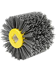 EXLECO Szczotka nylonowa #80 ziarnistość drutu, szczotka do polerowania, do maszyny satynowej, czarna szczotka do szlifowania, szczotka do czyszczenia
