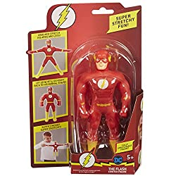 New Flash 7inch Stretch figure! Stretch him, pull him, tie him in knots. When you release Flash Stretch he uses his amazing stretch to slowly return to his normal shape. Have super stretchy fun! For ages 5 plus years