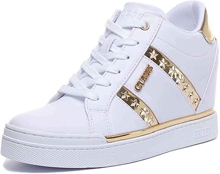 Scarpe  donna guess fl5fay sneakers in eco pelle