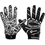 Cutters Game Day Padded Football Glove for Lineman and All- Purpose Player. Grip Football Glove, Youth & Adult...