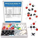 Swpeet 125 Pcs Molecular Model Kit for Inorganic & Organic Molecular Model Teacher and Student Kit - 54 Atoms & 70 Links & 1 Short Link Remover Tool - Science Toys