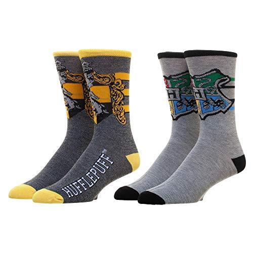 Harry Potter Hufflepuff Herren Crew Socken 2er-Pack