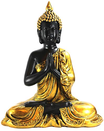 Seraphic Buddha Statue for Home Decor or Outdoor, Gold, 13' Tall
