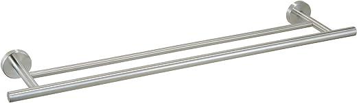 Ribelli Handtuchhalter 2-armig, doppelte Handtuchstange Edelstahl mit ca. 60 + 70 cm Länge – 2 Stangen für Handtücher Badstange als Badetuchhalter…