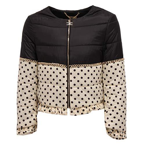 Elisabetta Franchi 1411Z Giubbotto Bimba Girl Black/Ivory Jacket [L (12 Years)]