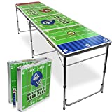 UBPONG 8-Foot Beer Pong Table Outdoor Party Table Portable Foldable - Gift Six Pack of Beer Pongs Included (Football Field)